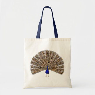 Peacock Blue Tote Bags