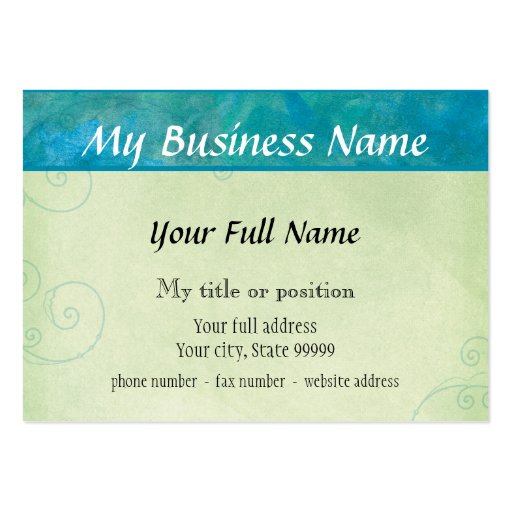 Peacock Blue Two Sided Business Cards