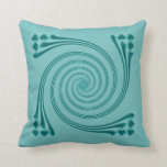 Peacock Blue Whirligig Pillow by Janz