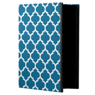 Peacock Blue White Moroccan Quatrefoil Pattern #5 Powis iPad Air 2 Case