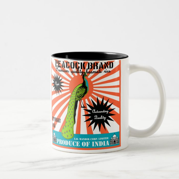 Peacock Brand Basmati Rice Two-Tone Coffee Mug