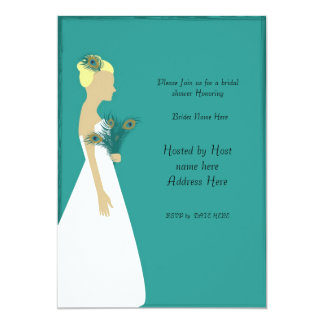 peacock_bridal_invite-01, Please Join us for a ... Personalized Announcements