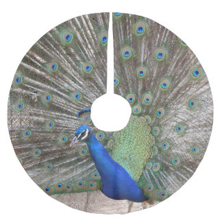 peacock brushed polyester tree skirt