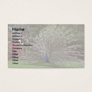 Peacock Business Card