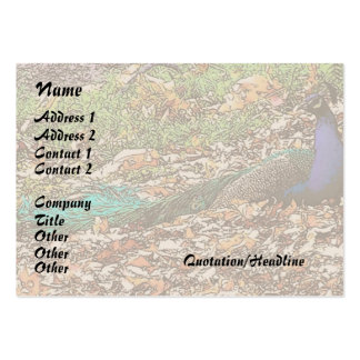Peacock Business Card