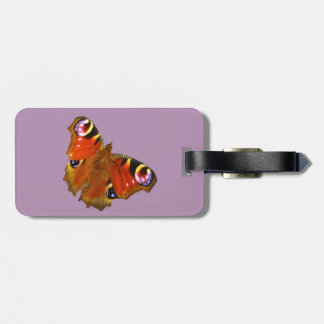 Peacock butterfly bag tag