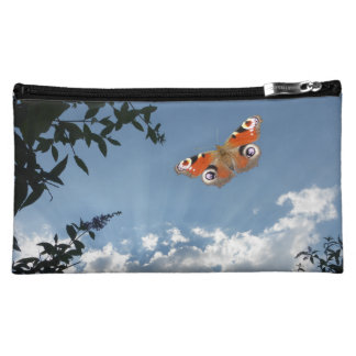 Peacock Butterfly Cosmetic Bag
