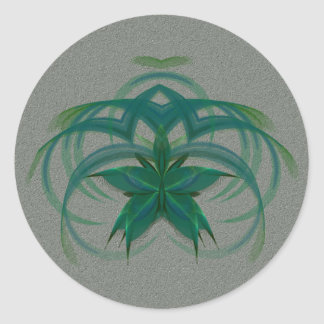 Peacock Butterfly in Flight Abstract Art Classic Round Sticker
