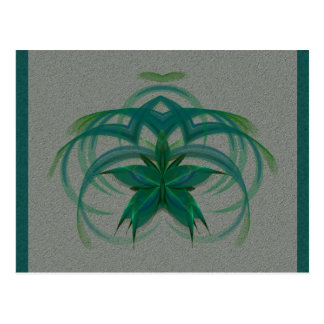 Peacock Butterfly in Flight Abstract Art Postcard