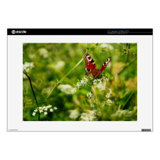 Peacock Butterfly In Green Summer Meadow Laptop Decals