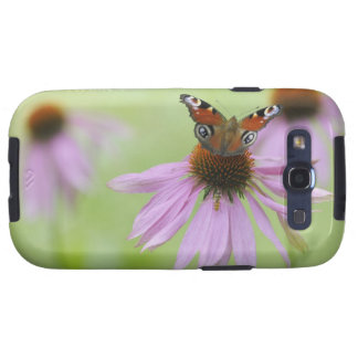 Peacock butterfly Inachis io drinking nectar Galaxy S3 Cases