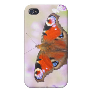 peacock butterfly over lavender case for iPhone 4