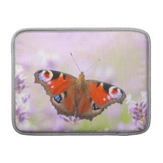 peacock butterfly over lavender MacBook air sleeves