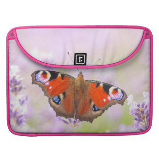 peacock butterfly over lavender sleeve for MacBook pro