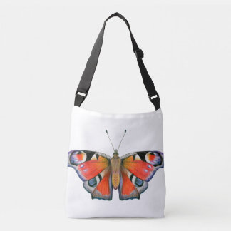Peacock Butterfly Painting Watercolour Crossbody Bag