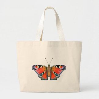 Peacock Butterfly Painting Watercolour Large Tote Bag