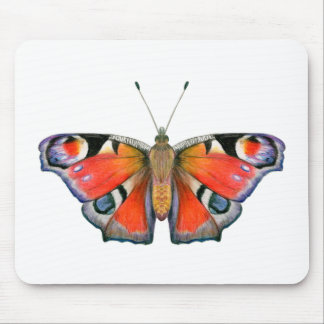 Peacock Butterfly Painting Watercolour Mouse Pad