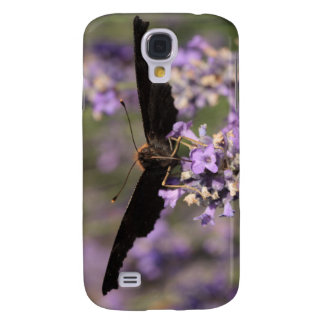 peacock butterfly sucking lavender nectar galaxy s4 cover