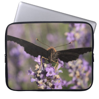 peacock butterfly sucking lavender nectar laptop sleeve