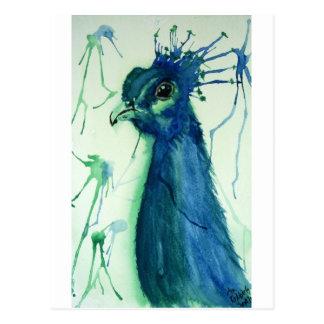 Peacock by April Robbins Postcard