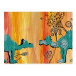 Peacock Camels Postcard
