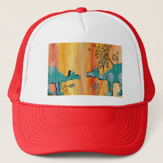 Peacock Camels Trucker Hat