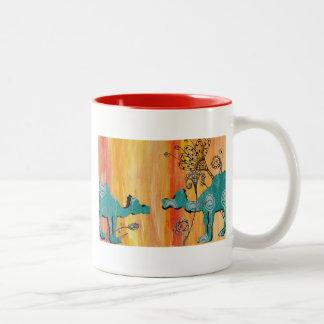 Peacock Camels Two-Tone Coffee Mug