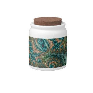 Peacock Candy Jar