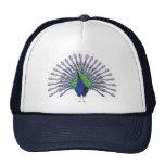 Peacock Caps Mesh Hats
