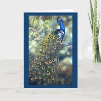 Peacock Card card