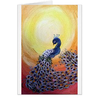 peacock cartoon style card