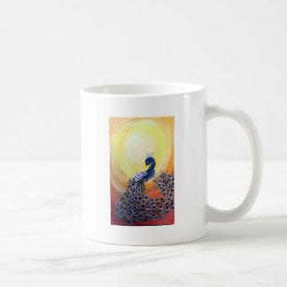 peacock cartoon style coffee mug