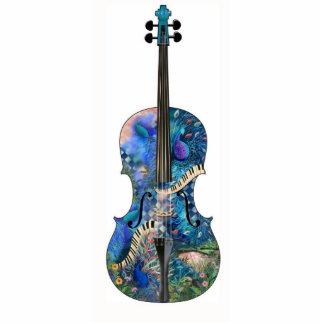 Peacock Cello Instrument 3D Photo Sculpture