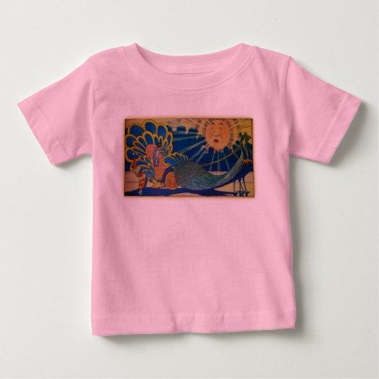 Peacock Chariot Baby T-Shirt
