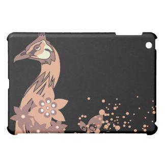 Peacock Close Up on Black iPad Mini Covers