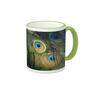 peacock coffee mugs