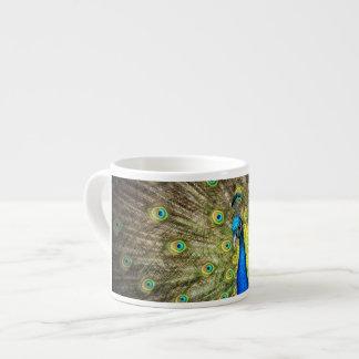 Peacock Color Beauty 6 Oz Ceramic Espresso Cup