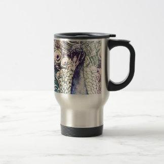 peacock, color, oil painting, australia travel mug