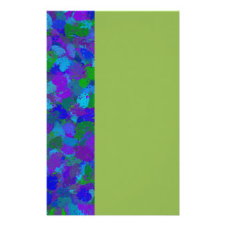 Peacock Color Splatters 4755 Stationery