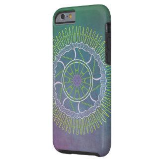 Peacock Colored Mandala iPhone 6/6S Tough Case