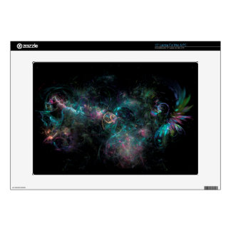 Peacock colors fractals laptop skin