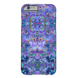 Peacock Colors Kaleidescope Tie-dye Like Pattern Barely There iPhone 6 Case