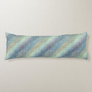 Peacock Colors Pale Stripes Body Pillow