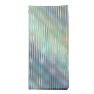 Peacock Colors Pale Stripes Cloth Napkin