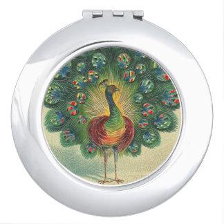 Peacock Compact Mirror