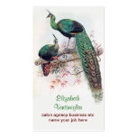 peacock couple business card