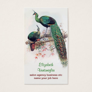 peacock couple business card