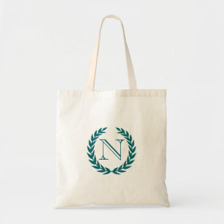 Peacock Crest Monogram Budget Tote Budget Tote Bag