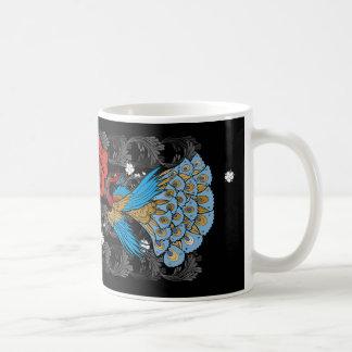 Peacock cup black