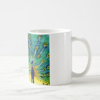 Peacock cup mug